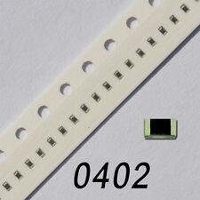 50 SMD Widerstände Bauform 0402 1% 1/16W Werte FREI WÄHLBAR 0,0625W Resistor