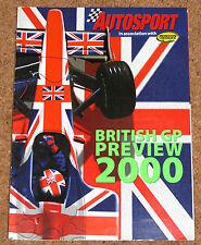 Autosport 2000 BRITISH GRAND PRIX GUIDE -Schumacher, Jordan Team, 2 Seat McLaren