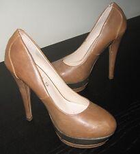 scarpe/decoltè PRIMA DONNA tacco slim alto-37-cammello/beige scuro-similpelle