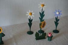 5 X Dekoblumen Holzblumen Margeriten Blumen ect. Dänische Blumen  Neuwertig