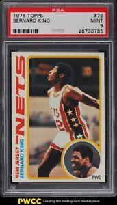 1978 Topps Basketball Bernard King ROOKIE RC #75 PSA 9 MINT