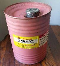 1964 Pink Hercules Red Dot Smokeless Shotgun Powder 3 lb Tin Can Keg DuPont