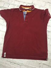 Boys Polo Shirt Jasper Conran Burgundy Short Sleeve Cotton Casual 13-14 Years