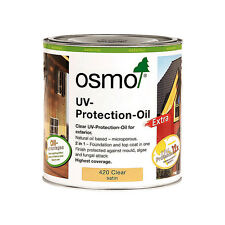Osmo UV Protection Oil Extra 420 Clear Satin 750ml - For Exterior Wood