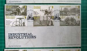 2021 Industrial Revolution Set of 6 on First Day Cover Industrial Street Derby