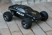 Custom Body Police Sheriff for Traxxas Rustler VXL 1/10 Truck Car Shell 1:10