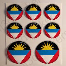 Pegatinas Antigua y Barbuda Pegatina Bandera Redondas 3D Vinilo Adhesivo Relieve