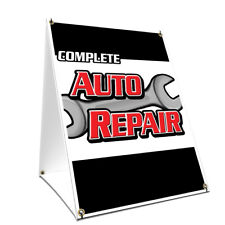 A-frame Sidewalk Sign Complete Auto Repair Double Sided Graphics