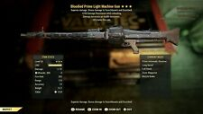 PS4 Fallout 76 LMG bloodied FFR +250% resist while aming