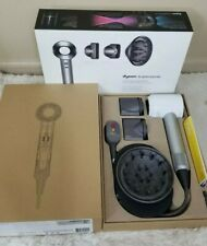 Dyson Supersonic Hair Dryer - White/Silver with box and attachments EUC