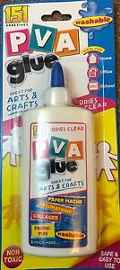 PVA GLUE FOR SCHOOL, OFFICE,HOME AND CHILDREN'S CRAFTS-WASHABLE & SAFE 150ml