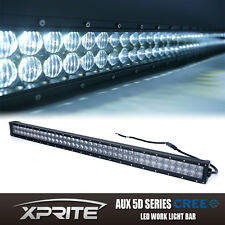 "Xprite 42"" 5D Fisheye Lens 240W CREE LED Cube Offroad Light Bar Spot Flood Combo"