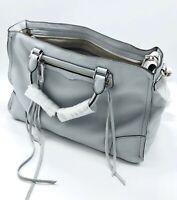 Rebecca Minkoff Tote Bag Designer Purse Leather New Gray Blue