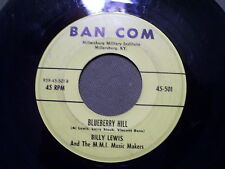Billy Lewis Blueberry Hill & A White Sport Coat 45 LP BAN COM 501