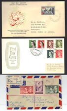 AUSRALIA SAMOA CAYMAN ISLANDS 1950s COLLECTION OF 7 FDCs INCLUDING REGISTERED