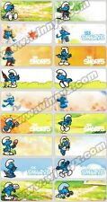 24 SMURF Personalised Name Sticker,Label,Tag