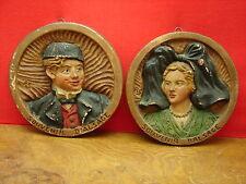 """2 jolis médaillons """"souvenir d'Alsace"""" RS"""