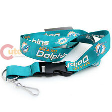 NFL  Miami Dolphins Lanyard Key Chain ID Ticket Holder - 2013 New Logo Green