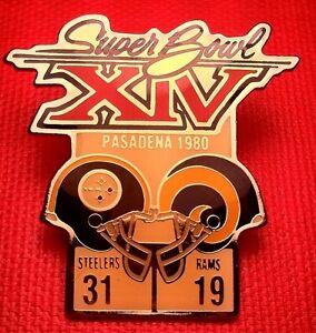 Vintage NFL Super Bowl XIV (14) Starline Collectors Pin: Steelers vs Rams