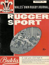 RUGGER SPORT - WELSH RUGBY MAG, DEC 1964, MAESTEG, OLD PENARTHIANS & FISHGUARD