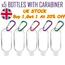 5pcs 50ml Empty Refillable Bottles With Key Ring Hook Travel Perfume Bottle