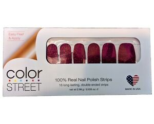 Color Street Rio Red Nail Polish Strips Retired Unicorn Resealed Partial Set