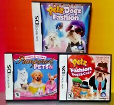 Petz Pampered Pets Claws, Dogz, Catz Fasion - Game Lot Nintendo DS Lite 3DS 2DS