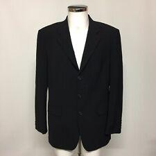 Hugo Boss Blazer Jacket Size IT 48 UK 38 Black Occasional Virgin Wool 241554