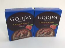 Godiva Chocolate Pudding Pie Filling Real Raspberry Instant Mix x 2 Boxes