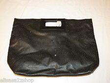 Victorias Secret RARE sparkle bling purse tote clutch handles large black NEW #