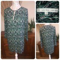 & Other Stories Ladies Ladies Green Black Grey Leaf Pattern Dress Size 34 ( 10 ?