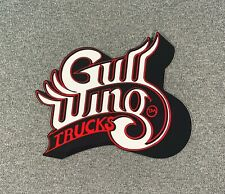 "Gullwing Trucks Skateboard Sticker 5"" White/Red sk8"