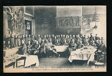 Military WW1 France DOUAI Occupation German Officers Banquet PPC
