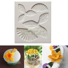 Daffodils Flower Petal Silicone Fondant Mould Cake Decor Sugarcraft Icing Mold