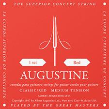 AUGUSTINE ROUGE jeu de cordes guitare classique tirant normal