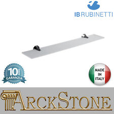 Estante vidrio soportes latón cromado pared IB Rubinetti Belmondo accesorios