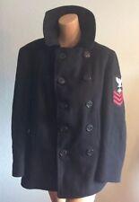 Vintage U.S.Navy CLOTHING SUPPLY OFFICE Corduroy Pockets Wool Pea Coat