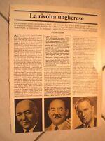 Inserto Fascicolo LA RIVOLTA UNGHERESE di EGISTO CORRADI 1956 BUDAPEST rarità