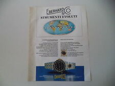advertising Pubblicità 1984 EBERHARD FLYMASTER