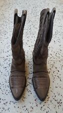 NEW GIANNI BARBATO WESTERN BOOTS SUEDE GREEN 8 , STALLION JB HILL MADE IN ITALY