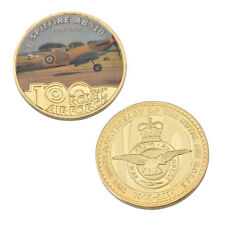AB910 SPITFIRE FIGHTER 1918-2018 100 Years Royal Air Force Challenge Coin WW2