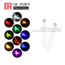 10Lights 500PCS 1.8mm Water Clear LED Diodes White Red Orange Purple Mix Kits