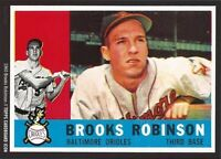 Pick 4 Topps Cardboard Icon 5x7 Brooks Robinson Cards 1959 to 1977