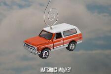 Vintage Style 1969 Chevy Blazer K5 Christmas Ornament 1/64 Bronco K/5 Jimmy