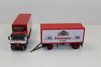 hg1120, Alter Herpa LKW Hängerzug MB Brauerei Deininger Pils Bier 1:87 / H0