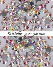 40 Stück Kristalle aus Glas 3,0 - 3,2mm SS12 funkelnde Kristalle für Nageldesign