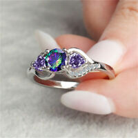 Women's Crystal Rring Rings Size 6-10 Jewelry Fashion Zircon Colorful Gemstone