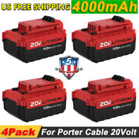 4Pack 20V PCC685L Battery for Porter Cable Max Lithium-Ion PCC680L PCC600 PCC640