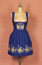 Vintage 80s Dirndl Trachten Bavarian German Country Folk Prairie Dress Size L