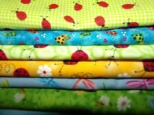 Lady Bugs dragonfly Insects bee Butterfly Cotton Fabric U-Pick Half Yard 1/2 yd